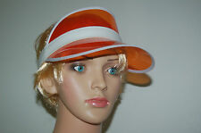 SUN VISORS HATS. FLEXIBLE AND LIGHT, ORANGE, PINK, BLUE, GREEN, SUMMER FESTIVAL