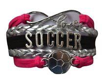 Girls Pink Soccer Bracelet
