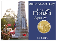 2017 ANZAC Day Australian Intelligence Corps One Dollar Coin in Card