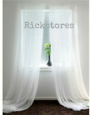 IKEA 1 x Pair of Long Sheer Floaty White Net Lill Curtains 280x250 FAST DELIVERY