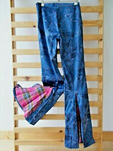 PARIS Hippie Patchwork Schlaghose Jeggings Skinny Jeans Leggings Yoga Hose S 36