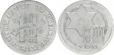 Getto Litzmannstadt 10 Mark Münze  Aluminium, RS dezentriert, mit Zertifikat ss