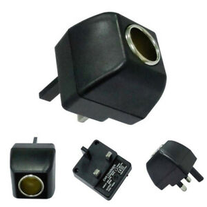 Car Charger Lighter Socket 240V Mains Plug to 12V Car Charger Adapters UK