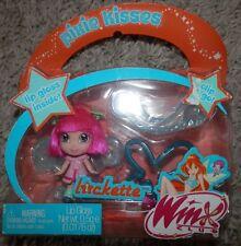 Winx Club LOCKETTE Pixie Kisses Mini Doll & Lip Glass Clip new