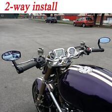 "Motorcycle 7/8"" 22mm/25mm Handle Bar End Racing Mirrors For Ducati Honda Yamaha"