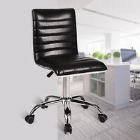 Office Chair PU Leather Adjustable Height Swivel Ergonomic Desk Seat Computer