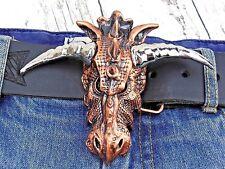 Gürtelschnalle Drachen Dragon Skull Schädel Wechselschnalle für 4cm Buckle