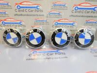 Set of 4 Alloy Wheel Centre Caps for BMW.  68mm 1 3 5 7 Series E F M X  18/7