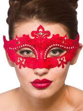 Ladies Costanzo Masquerade Maschera costume palla Carnevale Burlesque Rosso Adulto Nuovo