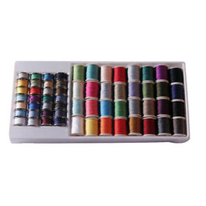 60pc Assorted Sewing Machine Thread Set Sewing Machine Spool Bobbin Kit Reel