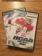 EA SPORTS NCAA FOOTBALL 2002 - PS2 - MISSING MANUAL - FREE S/H (J)