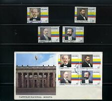 PRESIDENTS OF COLOMBIA,  FIRST DAY COVER  1981   + 4 stamps used