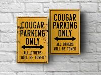 Ford Mercury Cougar parking sign for garage, man cave, home