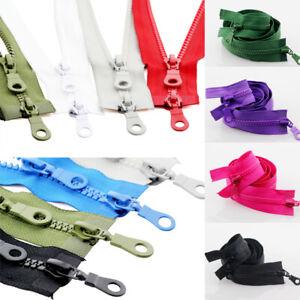 1PC 70/80Cm Double Sliders Resin Plastic Accessories 5# Zippers