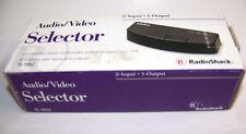 Radio Shack 2 Way Audio Video Selector Switch 15-1952 Nib