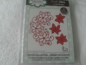 Creative Expressions Christmas die by Sue Wilson, poinsettia,