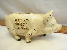 Vintage NORCO Save Foundry & Specialty Co Pottstown PA Pig Piggy Bank Cast Iron