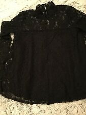 ABERCROMBIE & FITCH, Gorgeous New Ladies Black Lace Top, size XS ( uk 6/8)
