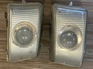1991-1993 Mitsubishi 3000GT Both Front Fog Lights W Mounting Brackets OEM RARE