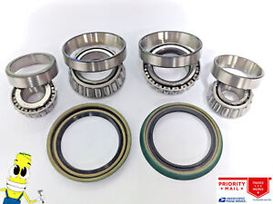 USA Made Front Wheel Bearings & Seals For Chevy G20 1991-1995 Light Duty Brakes