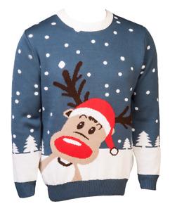 Weihnachtspullover DEER TOM© Rentierpulli Weihnachten Pullover Herrenpulli