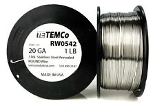 TEMCo Stainless Steel Wire SS 316L - 20 Gauge 1 lb Non-Resistance AWG ga