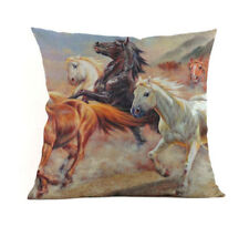 HORSE & WESTERN GIFTS HOME DECOR WILD HORSES CUSHION COVER 18 inch 45cms