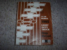 1985 Chevy Truck Suburban Silverado Scottsdale Shop Service Repair Manual Diesel