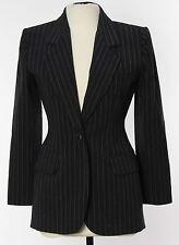 NWT Yves Saint Laurent YSL Women's Blazer Jacket 6 - 38 Gray Striped Wool France