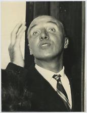 Le compositeur italien Arnaldo Graziosi Vintage silver print,  Arnaldo Grazios