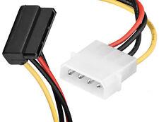 Right Angled SATA Power Converter Cable - Molex to RA SATA Power Angle 4 pin