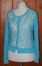 Cherry Couture, Ladies, Light, Floral, Blue, Cardigan, Cardi, size 12-14 (T2)