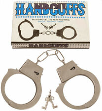 Metal Handcuffs - Party Valentines Fancy Dress Costume Hen & Stag