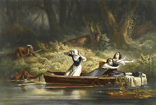 Images of Americana: Capture of the Daughters of Daniel Boone - Fine Art Print