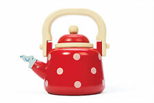 Le Toy Van Dotty Kettle | Wooden Kettle Toy | Adorable Polka Dot Kettle Toy