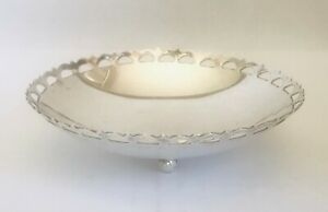 Rare European solid silver bowl hallmarked 830 , early 20th century