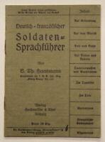 Original Deutsch-Französischer Soldaten-Sprachführer um 1920 Geschichte sf