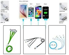 4 in 1 Multi Retractable USB Cable Multifunction Charger For iPhone & Android