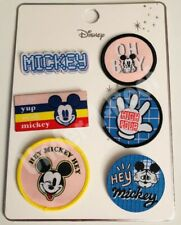 PRIMARK DISNEY MICKEY MOUSE 6 PACK FABRIC BADGE SET - Brand New