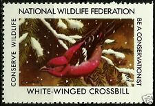 WHITE-WINGED CROSSBILL, NATIONAL WILDLIFE FEDERATION CINDERELLA 1983, MNH