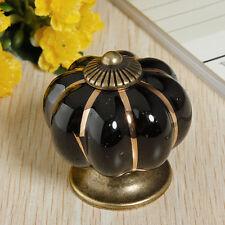 Vintage Pumpkin Ceramic Door Knobs Cabinet Drawer Cupboard Kitchen Pull Handles