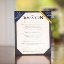 """THE RESOLUTION Courageous Movie 8"""" x 10"""" Frameable Print in Presentation Folder"""