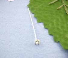Nietstift, Kettelstift, Prismastift, mit Verzierung 4. silber geschwärzt 52mm 1