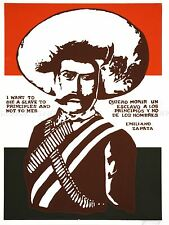 PROPAGANDA POLITICAL MEXICO ZAPATA REVOLUTIONARY MARTYR ART POSTER PRINT LV3726