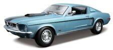 1968 Ford Mustang GT cobra Jet azul Maisto 31167