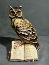 Porcellana di Capodimonte, Gufo Filosofo con libro...CHE MERAVIGLIA !!!