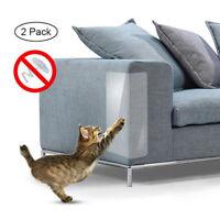 2Pcs Cat Scratch Guard Mat Pet Cat Scratching Post Furniture Sofa Seat Protector