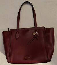 Nine West Chelsea Triple Compartment Tote Purse in Wine NWOT SS