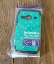 TEAL Alcatel One Touch Evolve 2 4037T Hybrid Stand Cover Phone Case Reiko