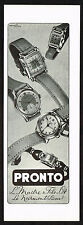 1940's Old Vintage 1948 Pronto Swiss Watch Co. Paper Print AD